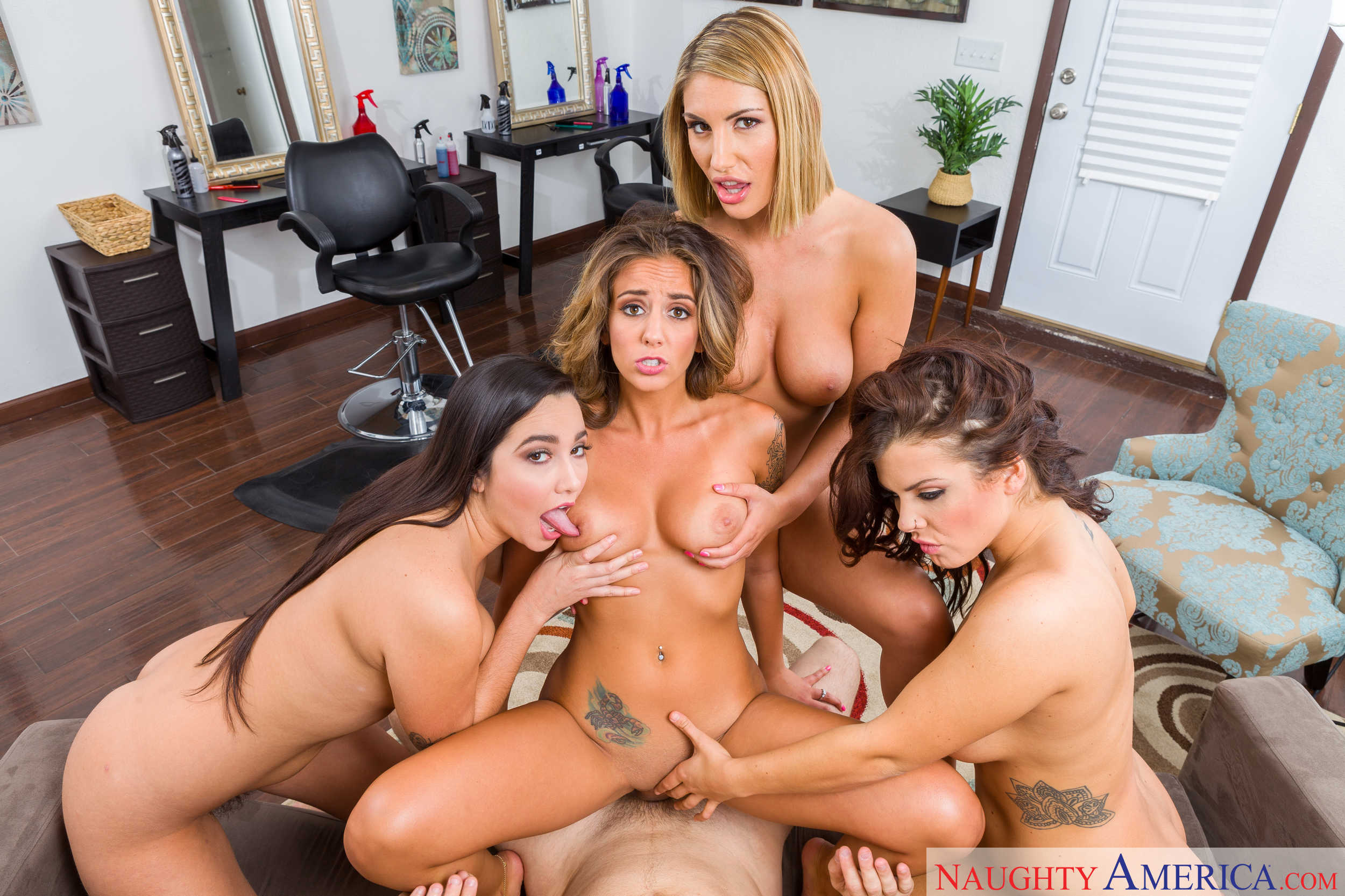 August Ames Karlee Grey Keisha Grey and Layla London in Sizzer ...